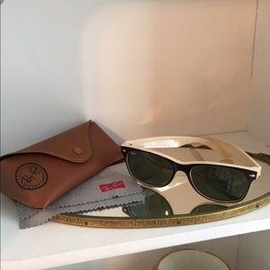 Ray ban wayfarer black tan (nude)